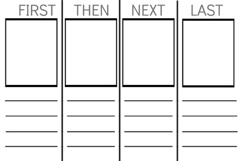 Narrative Writing Organizer/ Reading Sequencing Organizer