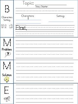 Narrative Writing Outline B-M-E