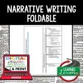Narrative Writing Outline Foldable, Print & Digital Distan