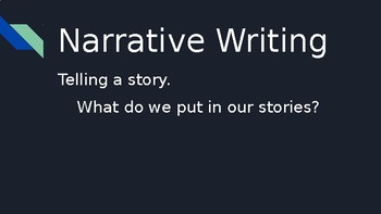 Narrative Writing PPT Lesson