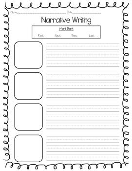 Narrative Writing Pack K-2