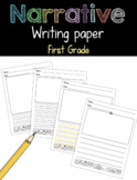 Narrative Writing Paper First Grade