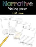 Narrative Writing Paper First Grade