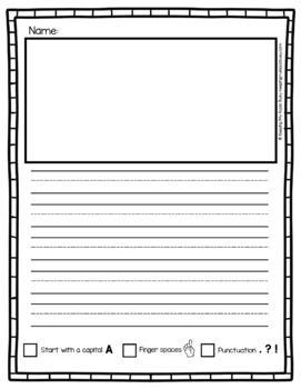 Narrative Writing Paper - Graphic Organizers - Writer's Workshop Posters Papers