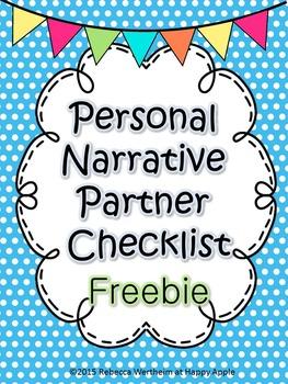 Narrative Writing: Partner Checklist