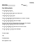 Narrative Writing - Peer Editing Rubric