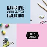 Narrative Writing Peer Evaluation Sheet