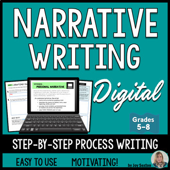 Narrative Writing – Personal Narrative DIGITAL for Google Drive or Microsoft