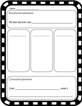 Narrative Writing - Personal Narrative - Writing  - Graphic Organizer