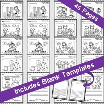 Narrative Writing: Picture Prompts/Worksheets!