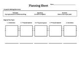 Narrative Writing Planning Sheet