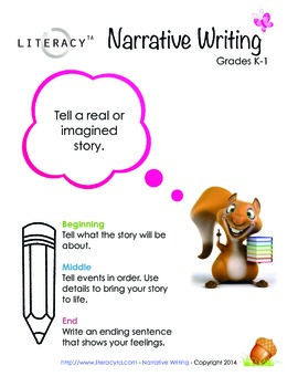 Narrative Writing Poster K-1