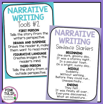 Narrative Writing Posters - Classroom Decoration