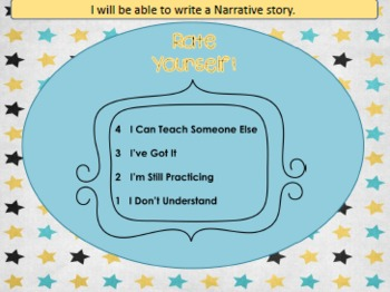 Narrative Writing PowerPoint Introduction Lesson and Graphic Organizer