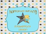 Narrative Writing PowerPoint Introduction Lesson and Graph
