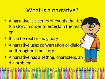 Narrative Writing Ppt with Practice Passages