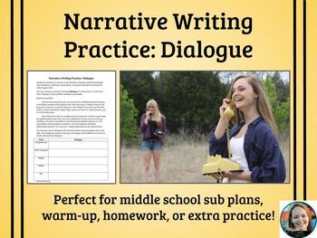 Narrative Writing Practice-Dialogue