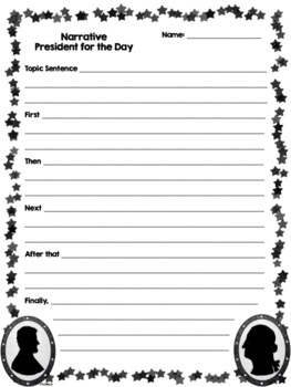 President for the Day Narrative Writing