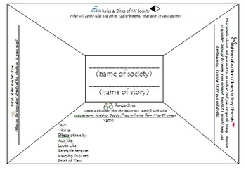 Narrative Writing Project Assignment & Rubric with Planning Frame