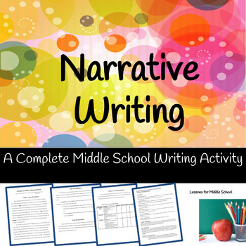 Narrative Writing - Getting to know you writing activity (Middle School)
