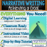 Narrative Writing Essay Prompt with Graphic Organizer, Rubric - Achieving a Goal