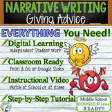 Personal Narrative Writing Essay Prompt with Graphic Organizer, Rubric - Advice