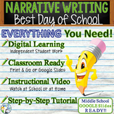 Personal Narrative Writing Essay Prompt with Graphic Organizer, Rubric -Best Day