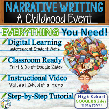 Narrative Writing Lesson / Prompt – with Digital Resource – Childhood Memory
