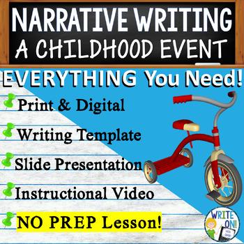 NARRATIVE WRITING PROMPT - Childhood Event - High School