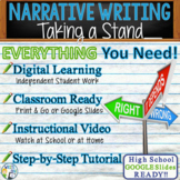 Narrative Writing Essay Prompt with Graphic Organizer, Rubric - Taking a Stand
