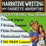 Personal Narrative Writing Essay Prompt w/ Graphic Organizer, Rubric -Day of Fun