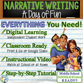 NARRATIVE WRITING PROMPT - Day of Fun - Middle School