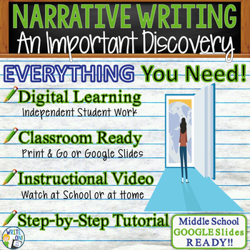 NARRATIVE WRITING PROMPT - Discovery - Middle School
