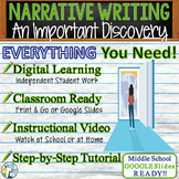 Personal Narrative Writing Essay Prompt w/ Graphic Organizer, Rubric - Discovery