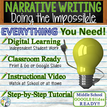 NARRATIVE WRITING PROMPT - Doing the Impossible - Middle School