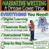 Personal Narrative Writing Essay Prompt with Graphic Organizer, Rubric - Dreams