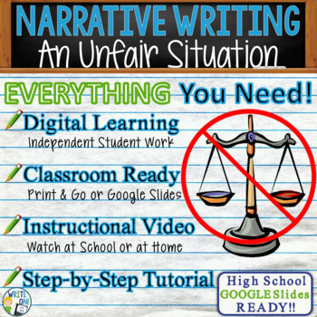 Narrative Writing Lesson / Prompt – with Digital Resource – Unfair Situation