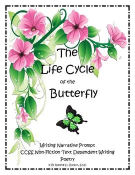 Narrative Writing Prompt Folder (Butterfly Poem)