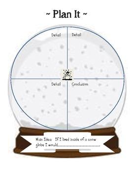 Narrative Writing Prompt Folder (Living in a Snow Globe)