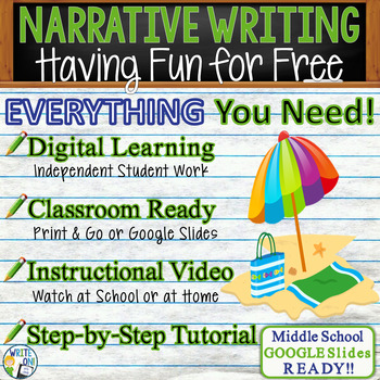 NARRATIVE WRITING PROMPT - Free Fun - Middle School