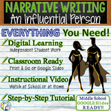 Personal Narrative Writing Essay Prompt w/ Graphic Organizer, Rubric - Influence