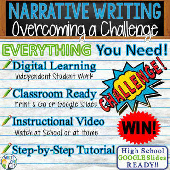 Narrative Writing Lesson / Prompt w/ Digital Resource – Overcoming a Challenge