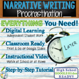 Narrative Writing Essay Prompt with Graphic Organizer, Rubric - Procrastination