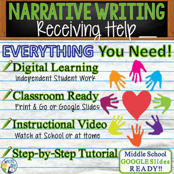 Narrative Writing Lesson / Prompt – with Digital Resource – Receiving Help