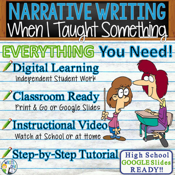 NARRATIVE WRITING PROMPT - Sharing a Lesson - High School