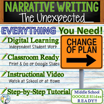 NARRATIVE WRITING PROMPT - The Unexpected - Middle School