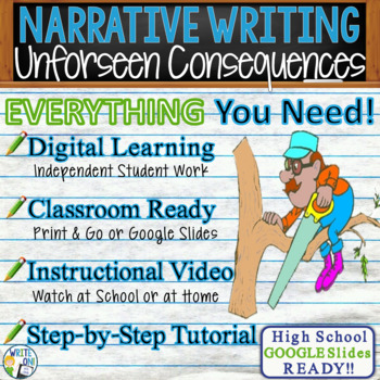 Narrative Writing Lesson Prompt w/ Digital Resource Unforeseen Consequences