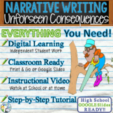 Narrative Writing Essay Prompt Graphic Organizer, Rubric Unforeseen Consequences