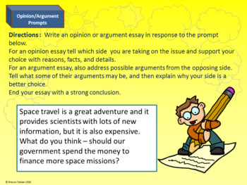 Writing Prompts - Narrative, Explanatory, and Opinion