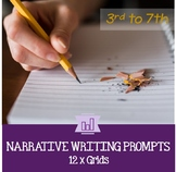 Narrative Writing Prompts 3rd to 7th Grade